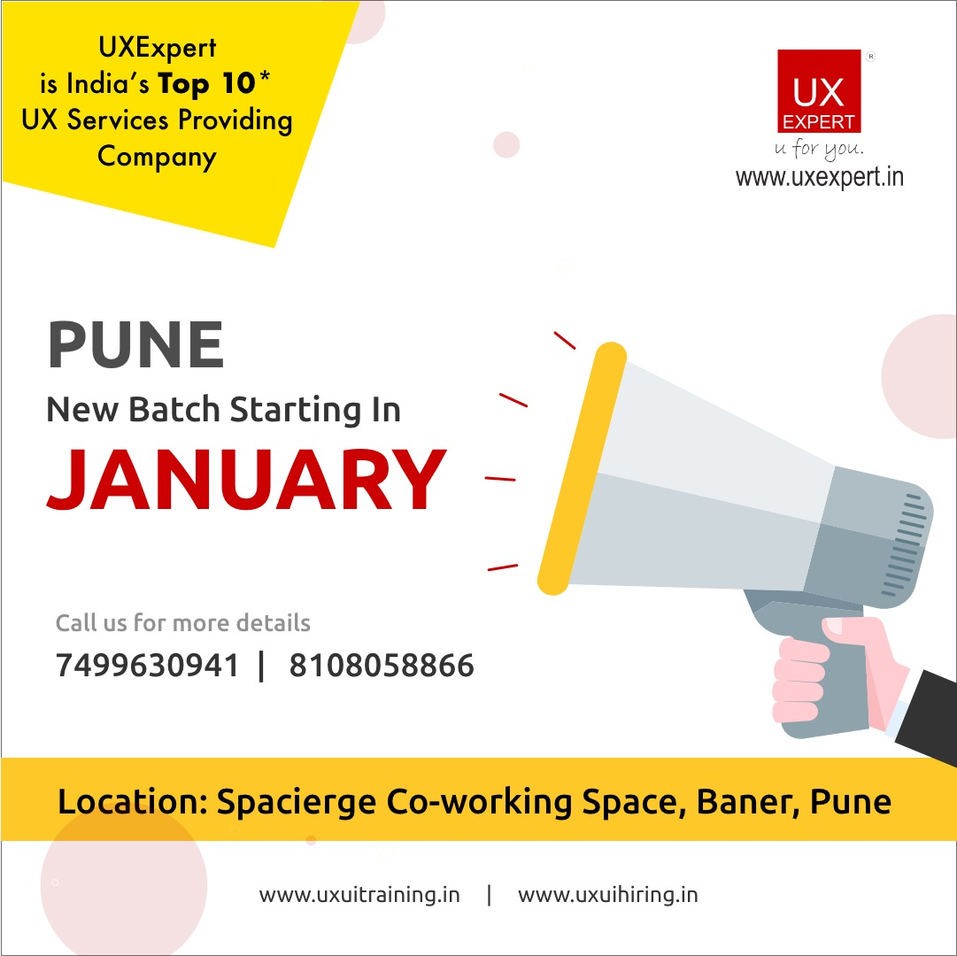 Ux Ui Design Training In Pune Design Thinking Ux Ui Training Programme For Professionals And Fresher S Ux Ui Training In Pune Ui Ux Learning Ux Expert